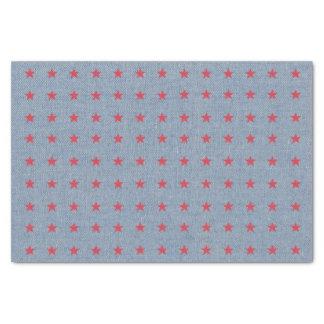 Denim and Stars Tissue Paper