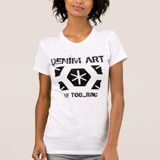 denim art shirt girls