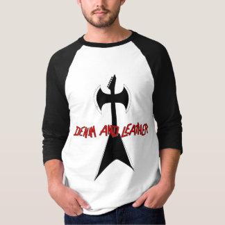 Denim [Axe] Leather (3/4 Jersey) T Shirt