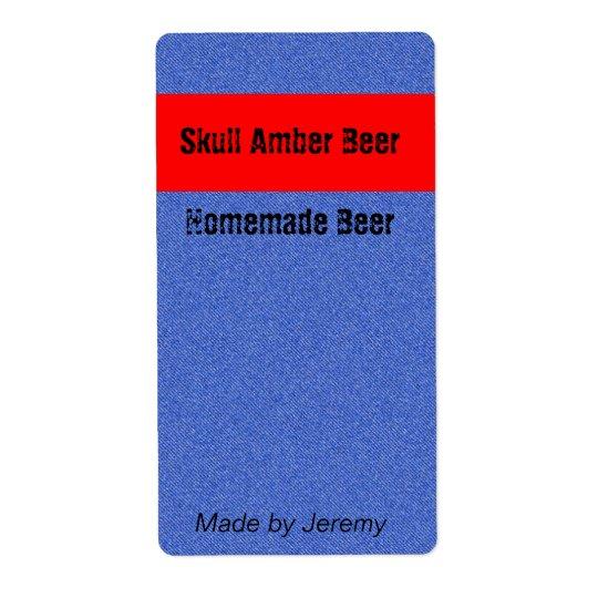 Denim Beer Label Shipping Label