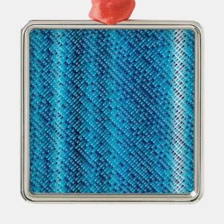 Denim Blue Background Christmas Ornament