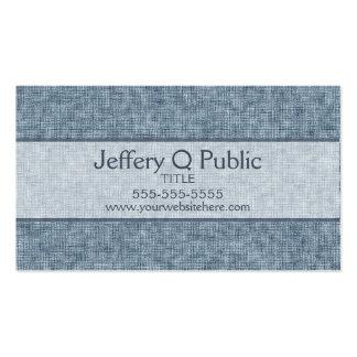 Denim Blue Pack Of Standard Business Cards