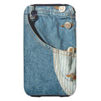 Denim Blue Jean Pocket iPhone 3 Tough Case