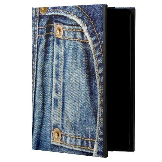 Denim blue jeans tatty old pocket ipad air