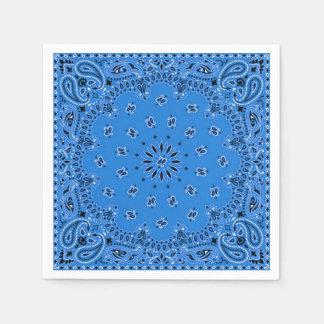 Denim Blue Paisley Bandana Scarf BBQ Picnic Napkin Disposable Serviettes