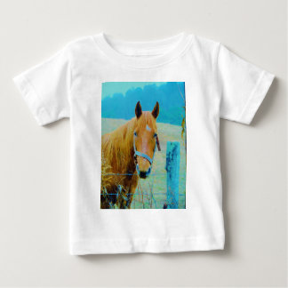 Denim blue tinted Horse Baby T-Shirt