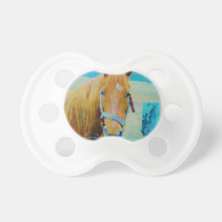 Denim blue tinted Horse Baby Pacifiers