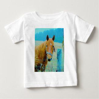 Denim blue tinted Horse T Shirt
