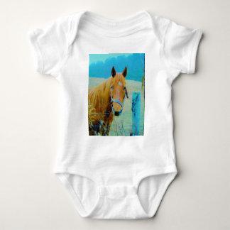 Denim blue tinted Horse T-shirt