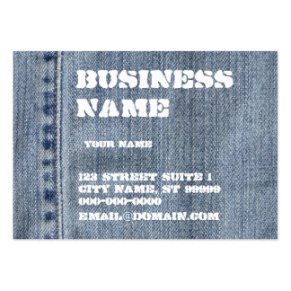Denim Large Business Cards (Pack Of 100)