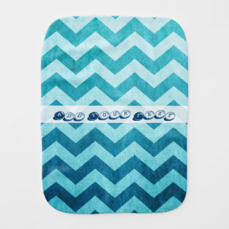 Denim Chevron by Shirley Taylor Burp Cloths