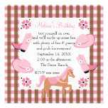 Denim Cowgirl Birthday Personalized Announcements