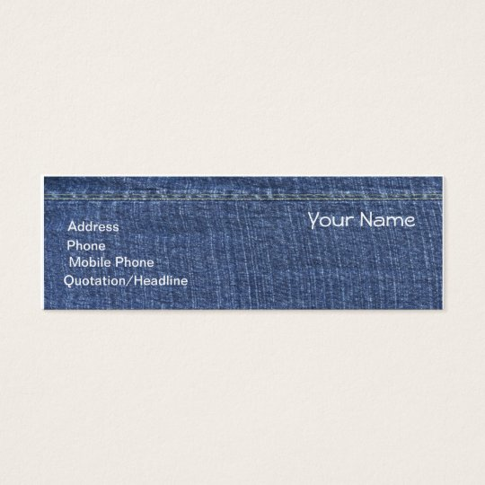 Denim Design Mummy Calling Card or Business card