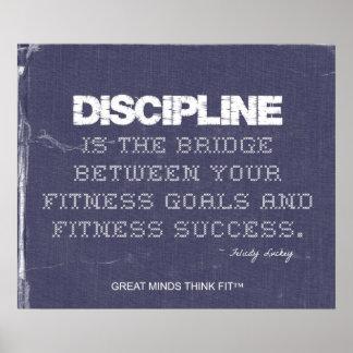 Denim for Fitness Discipline Poster