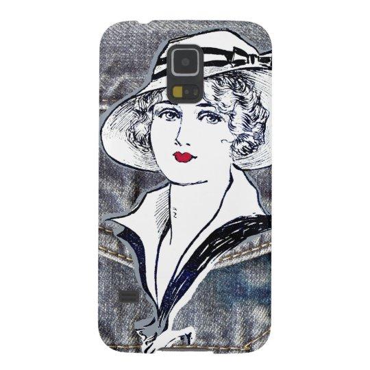 Denim/jean design & vintage ladies fashion print cases