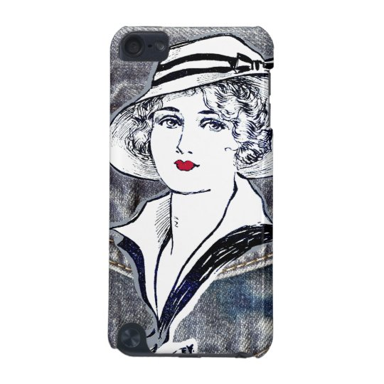 Denim/jean design & vintage ladies fashion print iPod