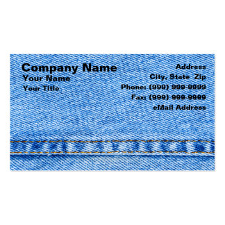 Denim Jeans Material Pack Of Standard Business Cards