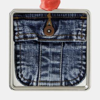 Denim Jeans Pocket Christmas Ornament