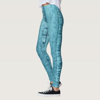 Denim Jeans Texture Leggings