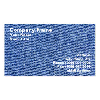 Denim Material Pack Of Standard Business Cards