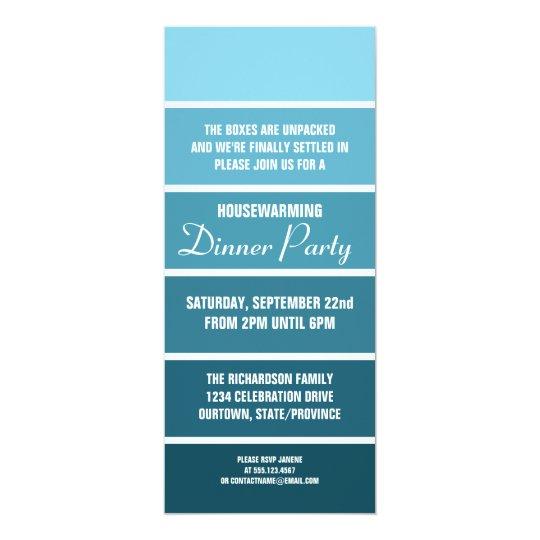 Denim Paint Sample Card Housewarming Invitation