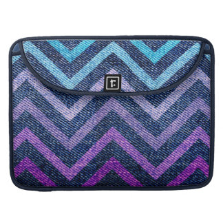 Denim Pastel Chevron Sleeve For MacBook Pro