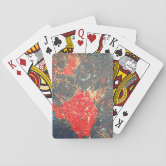 Denim patch playing cards