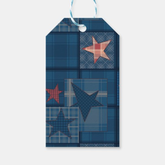 Denim patchwork gift tags
