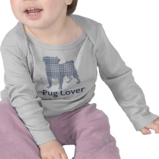 Denim Plaid Pug T Shirt
