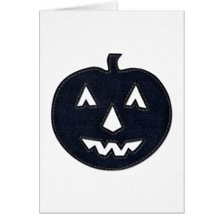 denim pumpkin greeting card