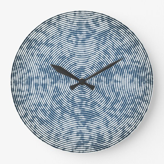 Denim Ripple Wall Clock