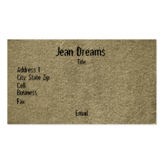 Denim (sepia) pack of standard business cards