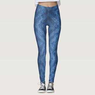 Denim stripe printed Leggings