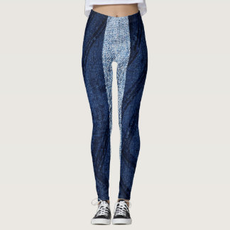 Denim style leggings