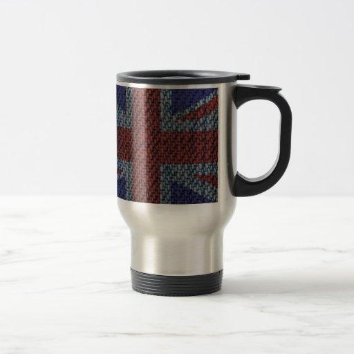 Denim Texture Pattern Union Jack British(UK) Flag Mugs