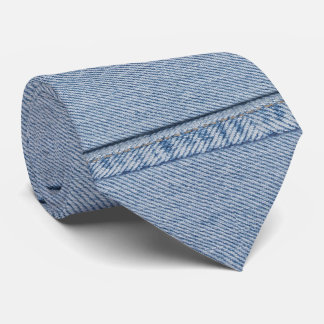 Denim Tie with Monogram