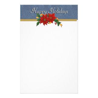 Denim Trim Happy Holidays Stationary Stationery