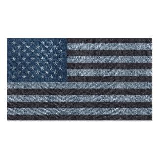 Denim USA flag business card