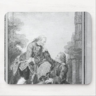 Denis Diderot and Melchior, baron de Grimm Mouse Pad