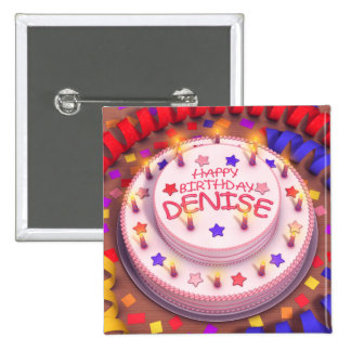 Denise s Birthday Cake Button
