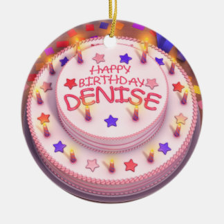 Denise s Birthday Cake Christmas Tree Ornaments