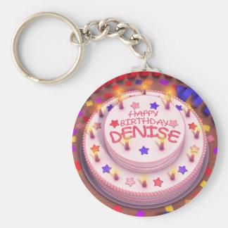 Denise s Birthday Cake Key Chain