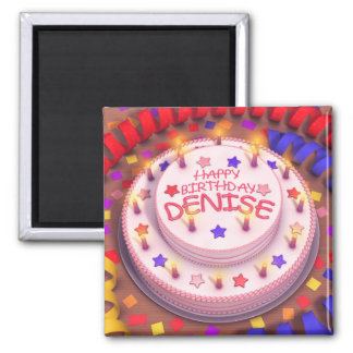 Denise s Birthday Cake Magnet