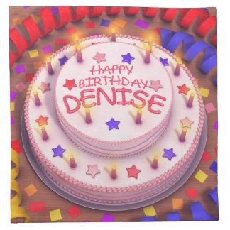 Denise s Birthday Cake Napkins