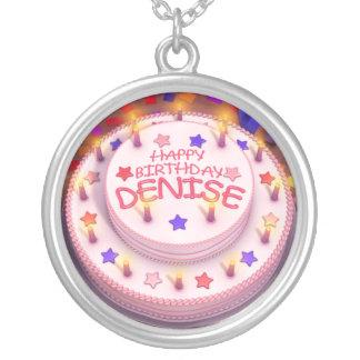 Denise s Birthday Cake Custom Necklace