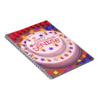 Denise s Birthday Cake Note Book
