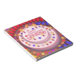 Denise s Birthday Cake Notepad