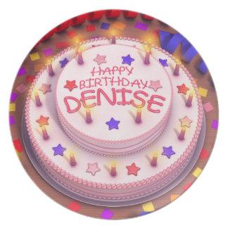 Denise s Birthday Cake Plate