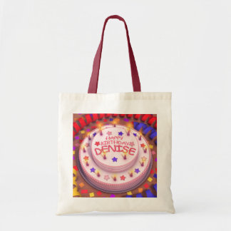 Denise's Birthday Cake Canvas Bag