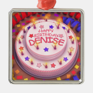 Denise's Birthday Cake Christmas Tree Ornament